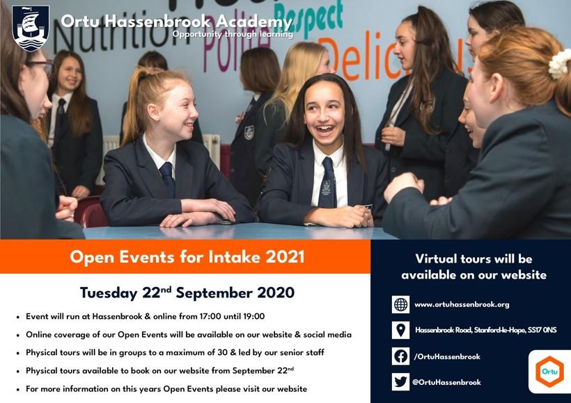 Ortu HSB Open Evening Advert 2020 2021   297x210   web version